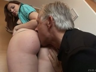 Amazing Ass Daddy Daughter Licking Old and Young Strapon Teen Young