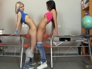 Lesbian School Strapon Student Teen Young