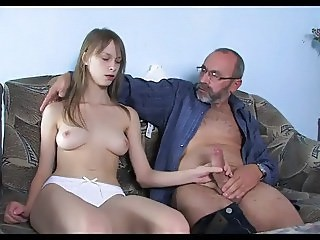 Daddy Daughter Handjob Old and Young Strapon Teen Young