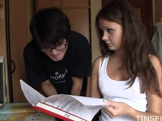 Brunette Sister Strapon Teen Young