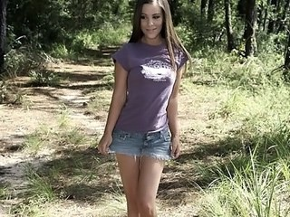 Amazing Cute Jeans Outdoor Strapon Teen Young