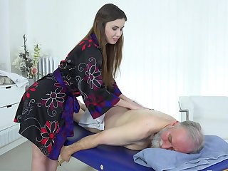 Babe Cute Daddy Daughter Massage Old And Young Teen