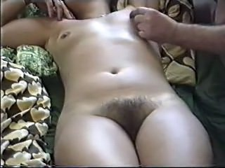 Amateur Hairy Homemade MILF Small Tits Strapon Wife