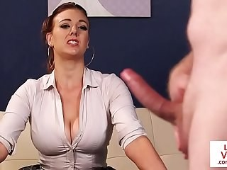 Amazing Big cock CFNM MILF Strapon