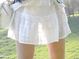 Outdoor Skirt Strapon Teen Young