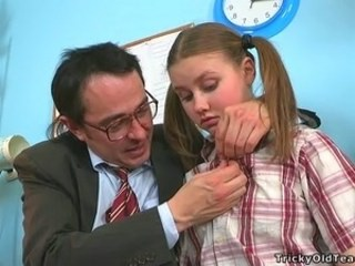 Daddy Old and Young Pigtail Strapon Student Teacher Teen Young