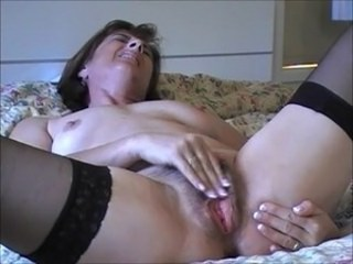 Amateur Hairy Masturbating Mature Mom Orgasm Pussy Stockings Strapon Wife