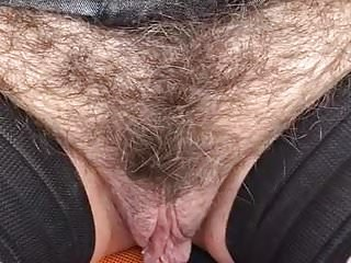 Close up Hairy Mature Pussy Strapon