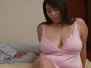 Amazing Asian Big Tits MILF Natural Strapon Wife