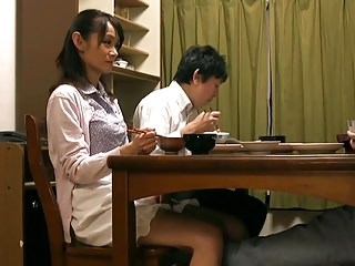 Asian Family Mature Mom Strapon