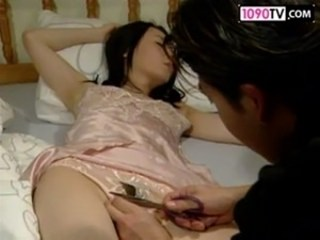 Asian Lingerie MILF Sleeping Strapon Wife