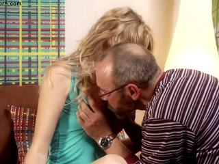 Blonde Daddy Daughter Old and Young Strapon Teen Young