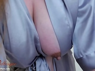 Amazing Big Tits MILF Nipples Strapon Wife