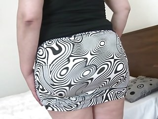Ass BBW Chubby MILF Skirt Strapon
