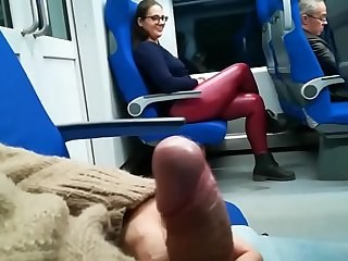 Amateur Latex MILF Public Strapon