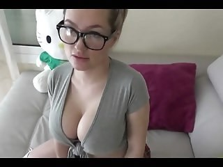 Amateur Amazing Big Tits Cute Glasses Homemade Strapon Teen Young