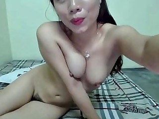 Asiatiche MILF Capezzoli Tette Piccole Solitario Dildo Indossabile Webcam