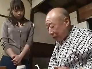 Asian Daddy Daughter Old and Young Strapon