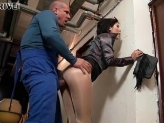 Cash Clothed Hardcore MILF Pantyhose Strapon