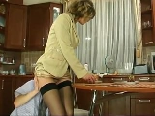 Kitchen Licking MILF Stockings Strapon Vintage