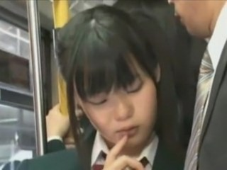 Asian Bus Public Strapon Student Teen Young