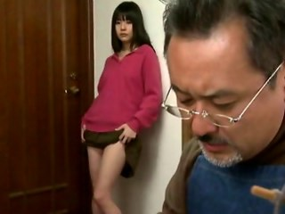 Amazing Asian Brunette Cute Daddy Daughter Old and Young Strapon Stripper Teen Young