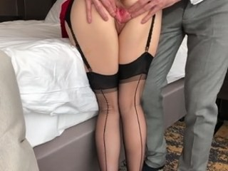 Lingerie Old and Young Pussy Stockings Strapon