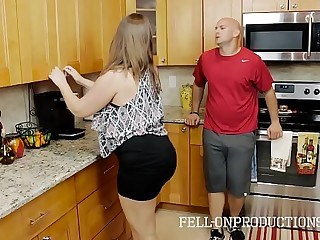 Kitchen MILF Strapon Wife