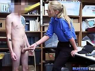 Big cock Blonde Casting Handjob MILF Office Strapon