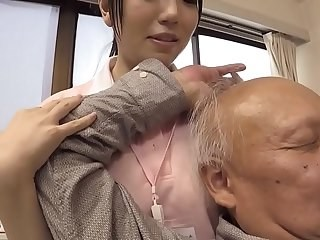 Asian Daddy Japanese MILF Old and Young Strapon