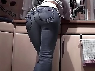 Ass Jeans Kitchen Strapon Vintage