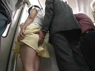 Asian MILF Public Skirt Strapon