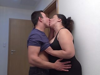 Chubby Kissing Mature Mom Old and Young Strapon