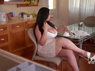 Big Tits Chubby Kitchen Legs MILF Pornstar Strapon