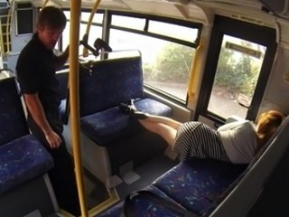 Bus MILF Public Sleeping Strapon