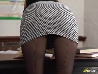 Ass MILF Pantyhose Skirt Strapon Teacher