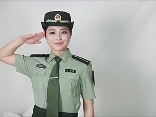 Amazing Asian Cute MILF Strapon Uniform