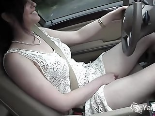 Car Masturbating MILF Strapon Wife