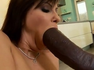 Big cock Blowjob Interracial MILF Pornstar Strapon