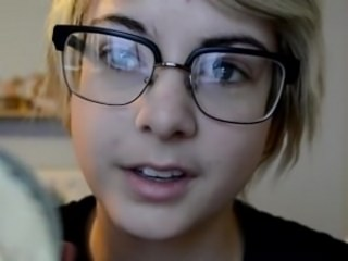 Cute Glasses Strapon Teen Young