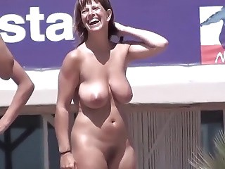 Amateur Big Tits MILF Natural Nudist Outdoor Public Strapon