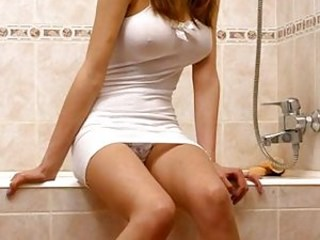 Amazing Bathroom Strapon Teen Upskirt Young