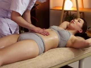 Asian Massage MILF Oiled Strapon