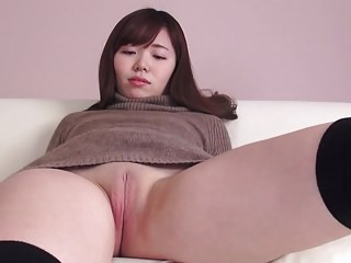 Asian Babe Cute Pussy Shaved Strapon