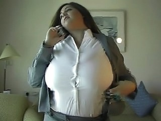 Amazing Big Tits MILF Strapon