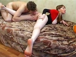 Amateur Homemade MILF Redhead Russian Strapon