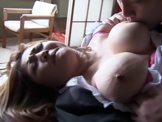 Asian Big Tits MILF Natural Nipples Strapon