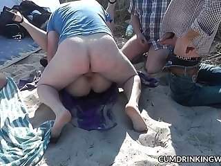Beach Gangbang Hardcore Outdoor Strapon