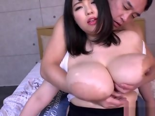 Asian Big Tits MILF Strapon
