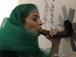Arab Big cock Blowjob Gloryhole Interracial MILF Strapon